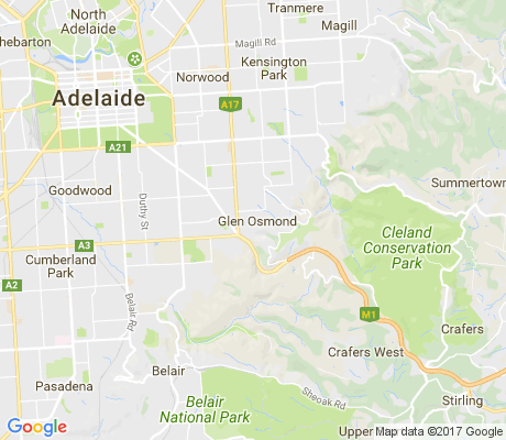 map of Glen Osmond apartments for rent