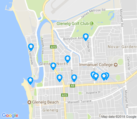 map of Glenelg North apartments for rent