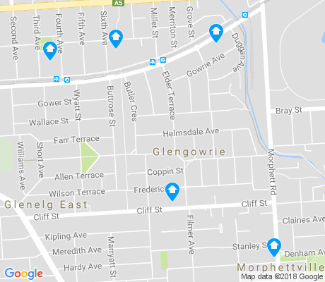 map of Glengowrie apartments for rent