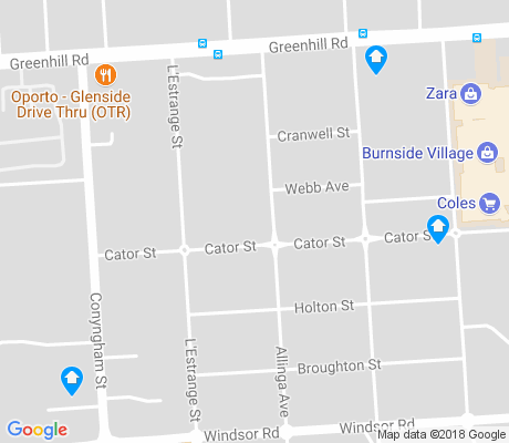 map of Glenside apartments for rent