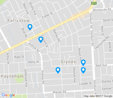 map of Glynde apartments for rent