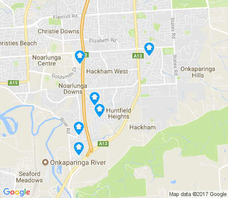 map of Hackham apartments for rent