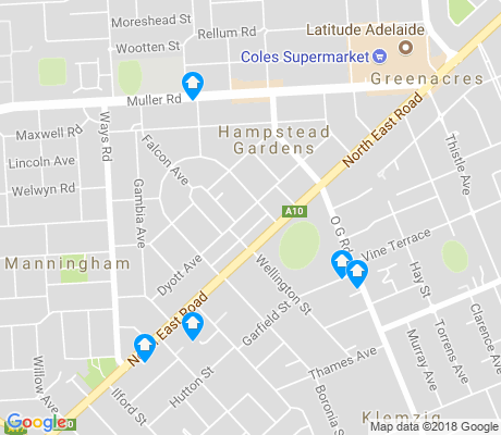 map of Hampstead Gardens apartments for rent