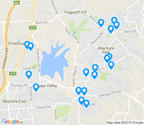 map of Happy Valley apartments for rent