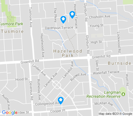 map of Hazelwood Park apartments for rent
