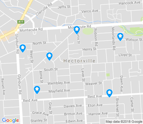 map of Hectorville apartments for rent