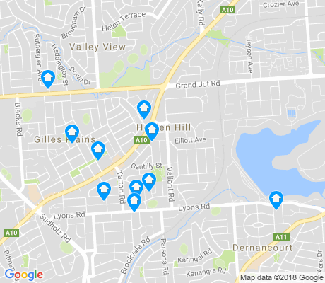 map of Holden Hill apartments for rent