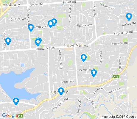map of Hope Valley apartments for rent