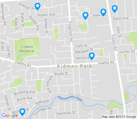 map of Kidman Park apartments for rent