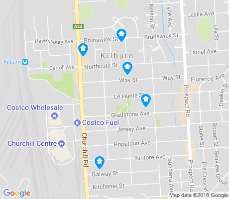 map of Kilburn apartments for rent