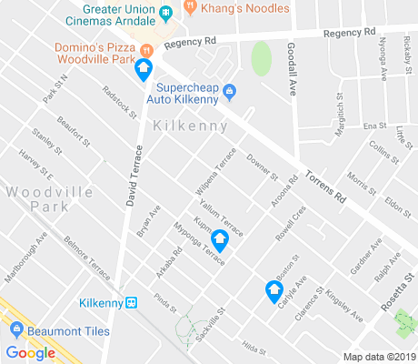 map of Kilkenny apartments for rent