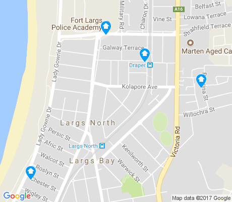 map of Largs North apartments for rent