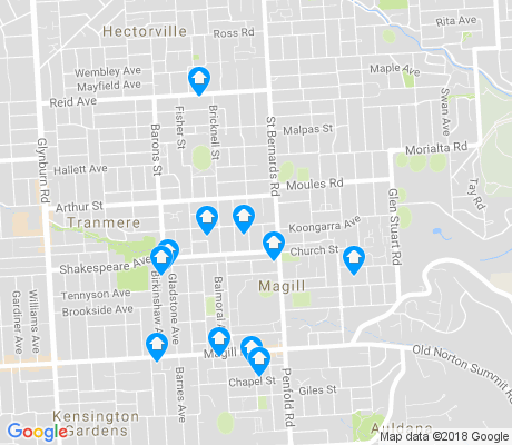 map of Magill apartments for rent
