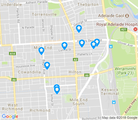 map of Mile End apartments for rent