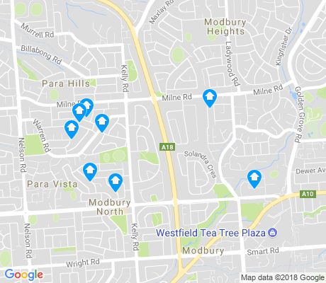 map of Modbury North apartments for rent