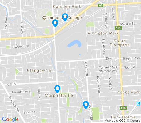 map of Morphettville apartments for rent