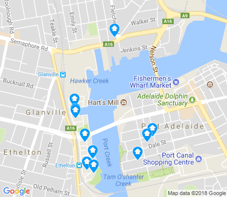 map of New Port apartments for rent
