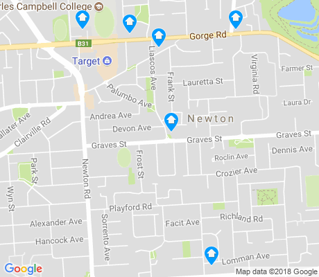 map of Newton apartments for rent