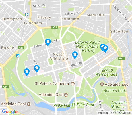map of North Adelaide apartments for rent