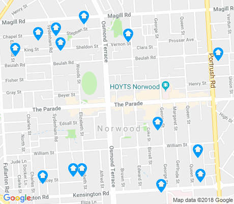 map of Norwood apartments for rent