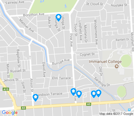 map of Novar Gardens apartments for rent