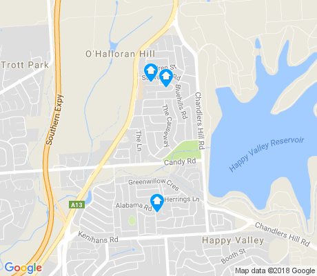 map of O'Halloran Hill apartments for rent