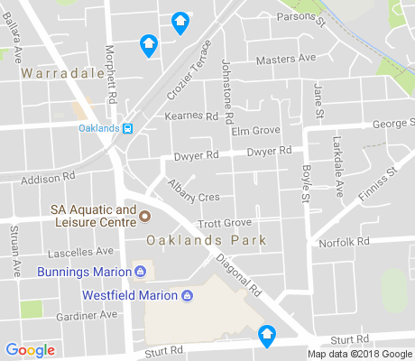 map of Oaklands Park apartments for rent