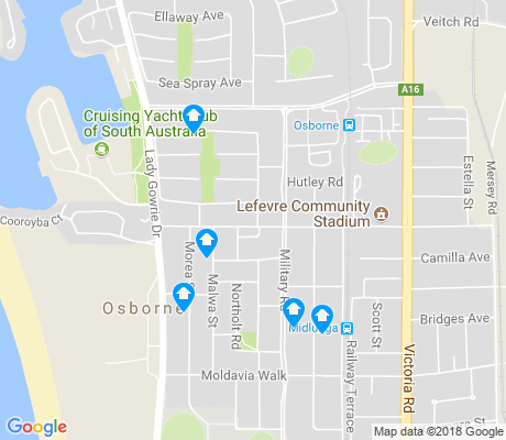 map of Osborne apartments for rent