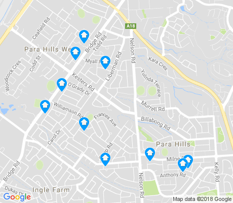 map of Para Hills apartments for rent