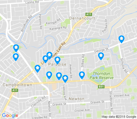 map of Paradise apartments for rent