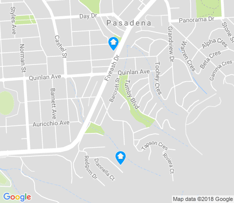 map of Pasadena apartments for rent