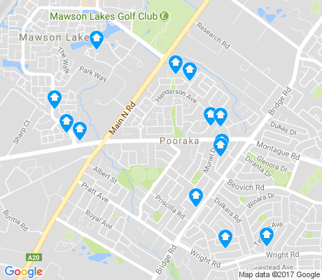map of Pooraka apartments for rent