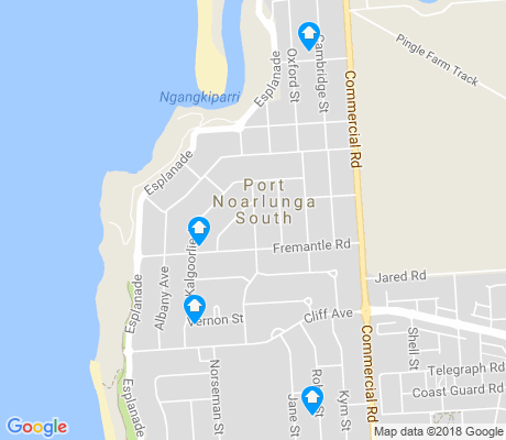 map of Port Noarlunga South apartments for rent