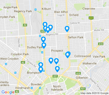 map of Prospect apartments for rent