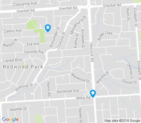 map of Redwood Park apartments for rent