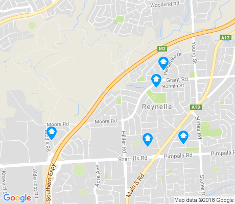 map of Reynella apartments for rent