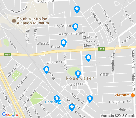 map of Rosewater apartments for rent