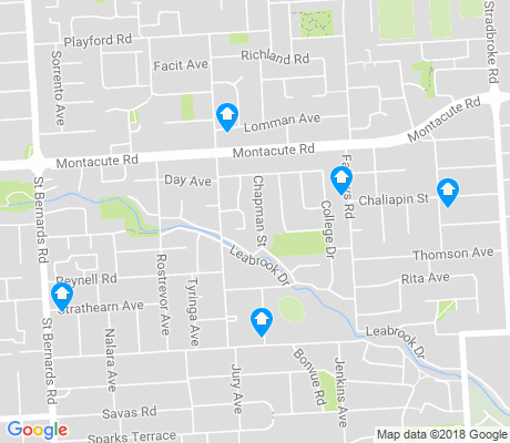 map of Rostrevor apartments for rent