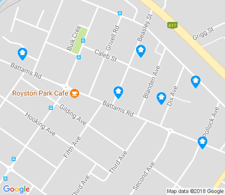 map of Royston Park apartments for rent