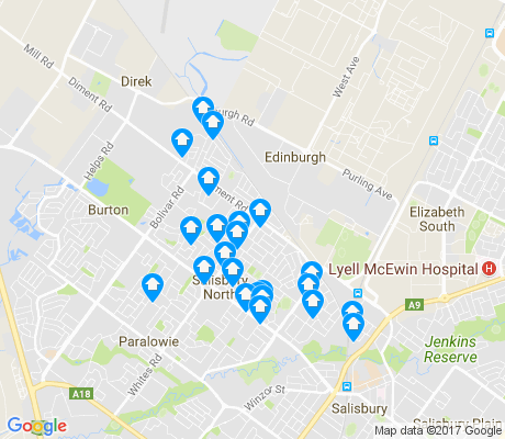 map of Salisbury North apartments for rent
