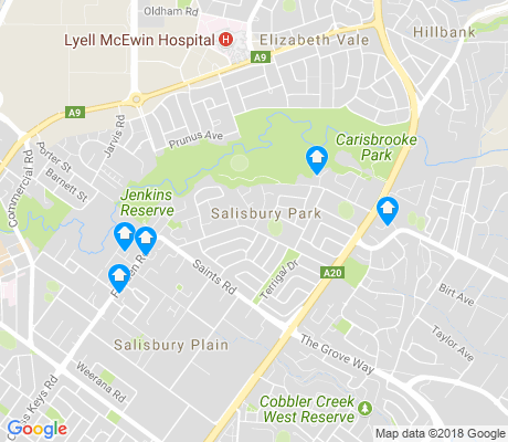 map of Salisbury Park apartments for rent