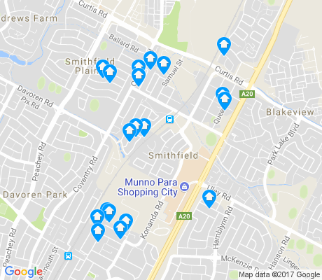 map of Smithfield apartments for rent