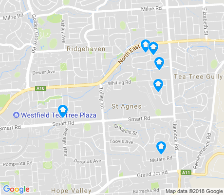 map of St Agnes apartments for rent