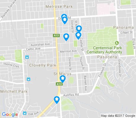 map of St Marys apartments for rent