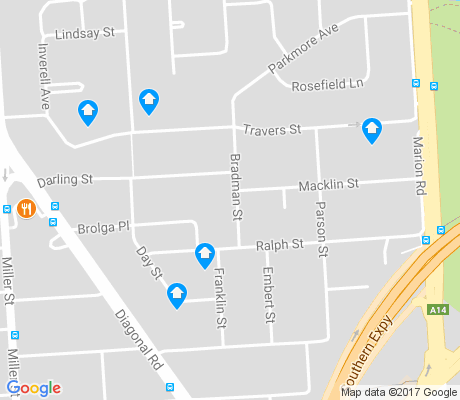 map of Sturt apartments for rent