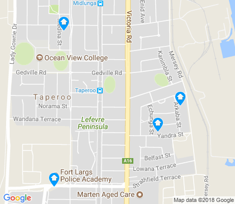 map of Taperoo apartments for rent