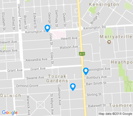 map of Toorak Gardens apartments for rent