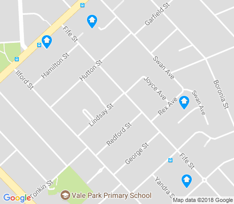 map of Vale Park apartments for rent