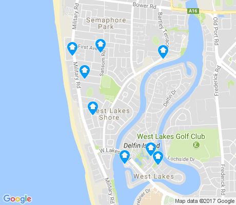map of West Lakes Shore apartments for rent