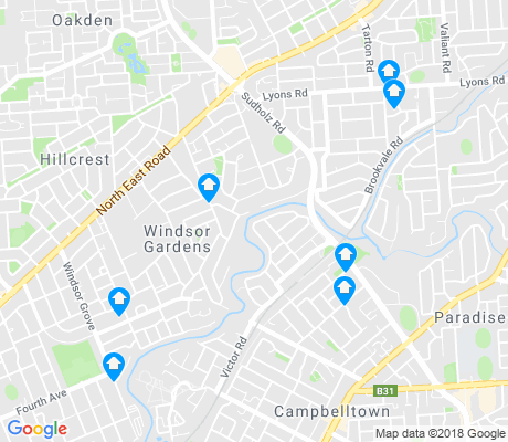map of Windsor Gardens apartments for rent